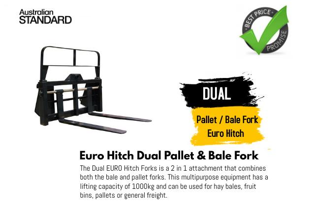 Dual Pallet Bale Fork